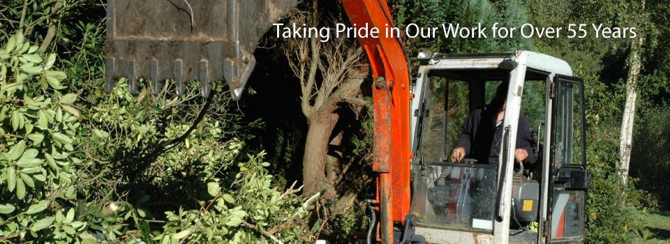 Taking Pride in Our Work for Over 55 Years - backhoe
